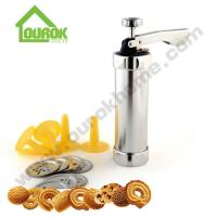 Buy cheap Aluminum cookie decorating press gun making biscuits cake tools with nozzle baking kit tools/Biscuit Maker /Cookie Press from Wholesalers