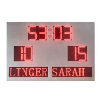 China Customized Led Football Scoreboard , Portable Electronic Scoreboard White Cabinet factory