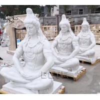China Large Marble Lord Shiva Statue Garden Life Size India God Buddha Sculpture factory