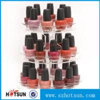 China 3 tiered round rotating acrylic nail polish display stand in cheap price factory