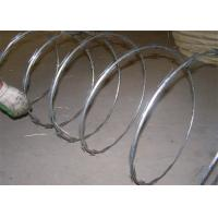 Buy cheap 450mm Crossed Concertina Razor Barbed Wire / Razor Blade Barbed Wire from Wholesalers