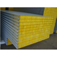 China Metal Rock Wool Mineral Wool Sandwich Panel on sale