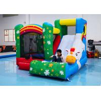 China Oxford Inflatable Unicorn Bounce House Combo With Slip Slide 2 Years Warranty factory