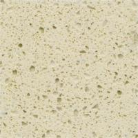 Buy cheap Functional Cream Quartz Stone Countertops With Flat Edge And Eased Edge from Wholesalers