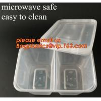 Buy cheap Disposable Plastic 4 Compartment Food Thermal Lunch Container Box,Plastic Takeaway Food Box with conjoined cover bagease from Wholesalers