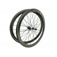 Buy cheap 23MM Width 700C Carbon Road Bike Wheels 45MM Clincher Shiny / Matte Finishing from Wholesalers