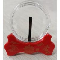 PMMA coin capsule,red display stand, irrgular plate display stand,commemorative coin display stand, coin capsule