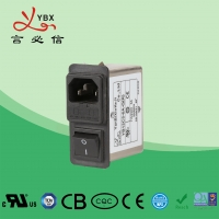 China Yanbixin 3A EMI Power Line Filter With Single Fuse Holder Compact Design factory