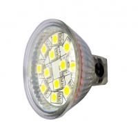 Buy cheap MR16 12PCS 5050SMD cup light 3w glass led spot light warm white from Wholesalers