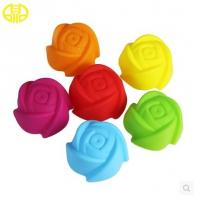 Buy cheap Food Grade Silicone Cupcake Molds Colored For Making Sweety Cakes from Wholesalers
