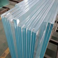 Buy cheap Durable 13.52mm low iron ultra clear tempered laminated safety glass infill panels for interior commercial railing from Wholesalers