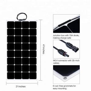 China 32 Cells ETFE Thin Film Flexible Solar Panel 12V/18V Sunpower 100W 110W  6.11A factory