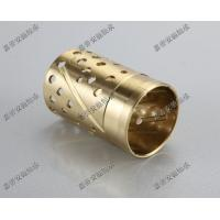 Wrapped bronze sliding bearing with lubrication pockets Low-maintenance DIN 1494