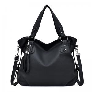 China Shoulder Faux Zipper Ladies Designer Handbags With Tassel factory
