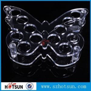 China Acrylic Wine Glass Tray Holder/ acrylic shot glass tray,acrylic shot glass holder tray factory