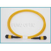 Buy cheap 12 Cores MPO Fiber Optic Cable SM OS2 Single Mode 9/125um Yellow Color from Wholesalers