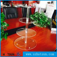 China Customized modern style 4 tier round plexiglass cake stand,acrylic cupcake stand wholesale from China on sale