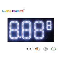 China Outdoor White Color Roadside Gas Station Led Price Sign With CE / RoHS Approved factory