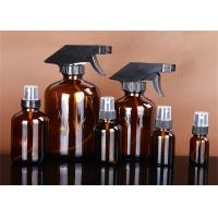 China Multi Color Boston Round Glass Bottles , Boston Amber Bottles With Spray Head factory