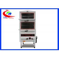 China 2 Decks Restaurant Chinese Cooking Equipment / Stainless Steel Commercial Food Steamer factory