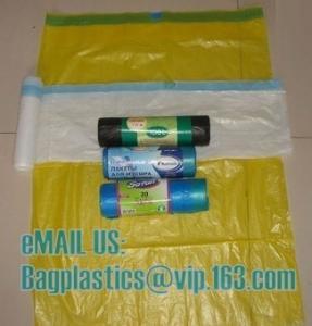China MDPE DRAWTAPE SACKS, nappy bags, nappy sack, diaper bag, alufix, rubbish bag, garbage factory