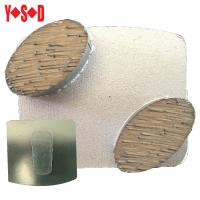 China Scanmaskin 2 Button Metal Bond Diamond Grinding Shoes for concrete surface prep factory