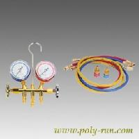 China 2-Valve Piston Valve Brass Manifold Gauge Set (PR6001A) factory