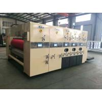 Buy cheap Lead Edge Feeding Flexo Printing And Die Cutting Machine For Corrugated Cardboard from Wholesalers