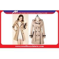 China Double Breasted Long Trench Jacket Womens Winter Outerwear , Waterproof factory