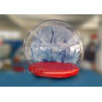 China 0.5mm PVC Trapaulin Outdoor Inflatable Snow Globe For Amusement Park factory