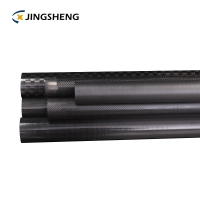 China Square Hollow ISO9001 OEM Carbon Fiber Tube factory