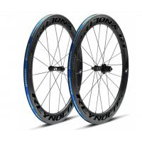Buy cheap 2X Rear Hub Full Carbon Road Bike Wheels , 700c 23mm 60mm Carbon Track Wheelset from Wholesalers