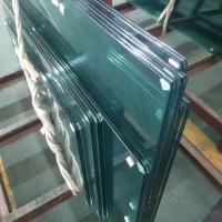 Buy cheap SGCC standard Clear tempered 13.52mm PVB film laminated safety framelsess glass Railing from Wholesalers