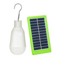 China Portable Led Bulb Solar Panel Yard Lights Outdoor Rechargeable 7W For Camping factory