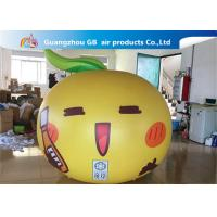 China Yellow Ball Apple Shape Inflated Helium Balloons Smile Airtight For Advertisement factory