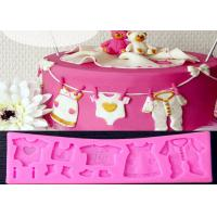 Buy cheap Pink New Baby Cloth Shape 3D Cake Molds By Food Grade Silicone from Wholesalers