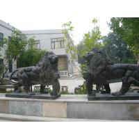 China Marble stone sculpture walking lions sculpture,outdoor stone sculpture supplier factory