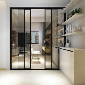 China Fire Proof Aluminium Frame Glass Door Powder Coating Frame Energy Saving factory