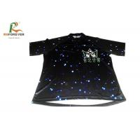 Buy cheap Black 3D Sublimation Custom Printed T Shirts For Club Team 100 Percent Cotton from Wholesalers