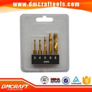 China 5PCS 1/4 hex shank stubby hss twist drill bits set on sale