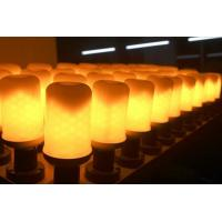 China LED Flame Bulb Flash Lighting Mode E27 B22 4.5W CE ROHS dimmable 1400K yellow color PC SMD2835 chip factory