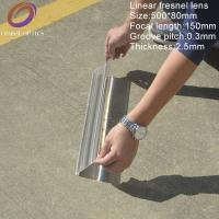 Buy cheap 500*80 Focal length 150mm pmma material acrylic linear fresnel lens ,solar fresnel lens for sale from Wholesalers