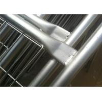 Buy cheap Q235 Steel Materials Construction Fence Panels Safety Barricade Fence from Wholesalers