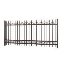 China Fancy Designed Solid Decorative Wrought Iron Fence For Yard , Paint Coating on sale