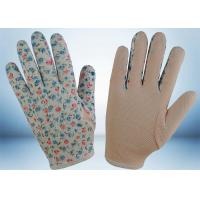 Buy cheap Flower Printed Cotton Gardening Gloves Slip Proof Three Stitches Lines from Wholesalers