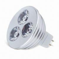 Buy cheap High Power LED Spotlight with GU10 Socket and 3 x 1W Power Consumption from Wholesalers