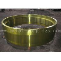 China C50 AISI1050 Carbon Steel Forged Ring Hot Rolled Cylinder Forged Disc / Pipe factory