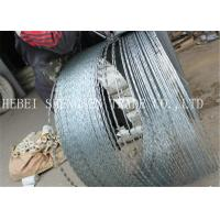 Buy cheap 22 mm Length Sharp Razor Barbed Wire Galvanized CBT - 65 Concertina For Fence from Wholesalers