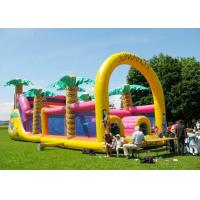 China Commercial Grade Inflatable Obstacle Race Course Bounce House With Repair Kit factory