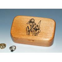 Buy cheap Natural Wood Solid Timber Jewellery Box With Lacquer, Handmade Wooden Ring Gift Box from Wholesalers